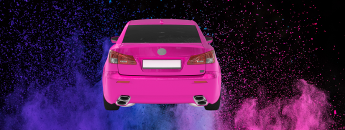Pink car end